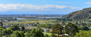 View of Christchurch city from Mount Pleasant in Canterbury Royalty Free Stock Photography