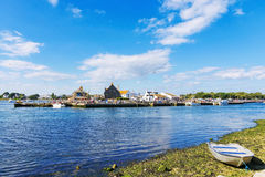View of Christchurch town on a sunny day Stock Image
