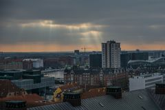 View from Christiansborg Castle tower Copenhagen. Denmark royalty free stock photography