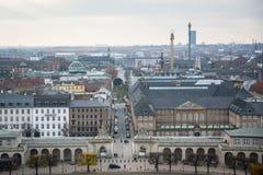 View from Christiansborg tower. Copenhagen. Denmark royalty free stock photo