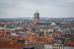 View from Christiansborg tower. Copenhagen. Denmark stock photo