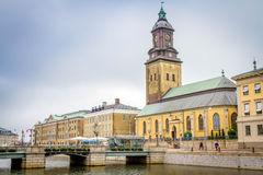 View of Christinae church in Gothenburg. Located in the outskirts of the old city stock photography