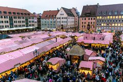 View of the Christkindlesmarkt, Nuremberg Royalty Free Stock Photo