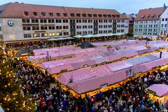 View of the Christkindlesmarkt, Nuremberg Royalty Free Stock Photos