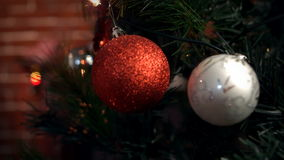 View of christmas decorations stock footage
