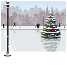 The view of Christmas tree Royalty Free Stock Image