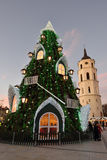 View of the christmas tree in Vilnius Royalty Free Stock Images