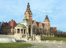 View of  Chrobry Embankment in Szczecin Royalty Free Stock Image