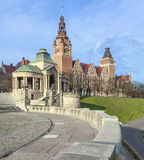 View of  Chrobry Embankment in Szczecin Stock Image