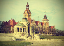 View of  Chrobry Embankment in Szczecin (Stettin), Poland. Stock Photography