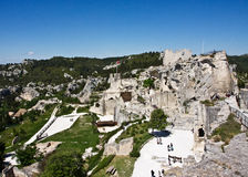 View of the Château des Baux Royalty Free Stock Images