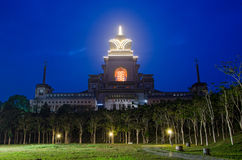 View on Chung Tai Chan Monastery. From the front line an evening illumination,Puli, Taiwan Royalty Free Stock Photos