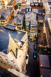 View of a church and alleys from the South Street Parking Garage Royalty Free Stock Photography