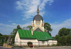 View of Church of Ascension of Lord in Lviv Stock Photography
