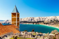 Baska church in a sunny day stock photos