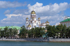 View of the Church on Blood in Yekaterinburg Stock Photo