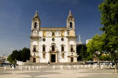 Church of Carmo. View of the church of Carmo located on Faro, Portugal Stock Photo