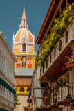 View of church, Cartagena. View of church in Cartagena town, Colombia royalty free stock photo