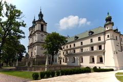 View on church an churchyard on skalka in cracow in poland Stock Images