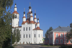 View of the Church Entrance of the Lord into Jerusalem, in the old Russian town Totma of Vologda region Stock Images