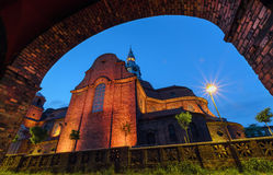 View on the Church fin historical part of Katowice Stock Photo