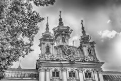 View of the Church of Grand Palace in Peterhof, Russia Royalty Free Stock Photography