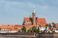 View of the Church of the Holy Cross. Royalty Free Stock Images