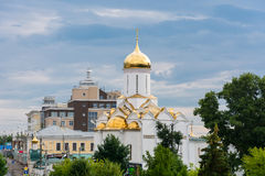 View of the Church of the Holy Trinity in the city of Ivanovo. Royalty Free Stock Images