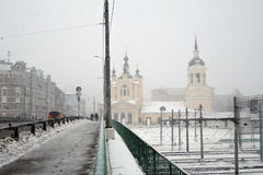 View of Church of the Intercession of the Holy Virgin on the Red village. Stock Image