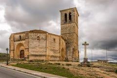 View at the church La Vela Cruz in Segovia Royalty Free Stock Photo