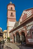 View at the church of Martyrs Ciriaco and Paula in Malaga - Spain. MALAGA,SPAIN - OCTOBER 5,2017 - View at the church of Martyrs Ciriaco and Paula in Malaga Royalty Free Stock Images