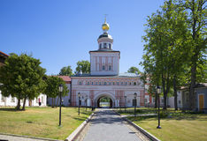 View of the Church in the name of Archangel Michael. Valday Iversky monastery svyatoozersky Royalty Free Stock Photography