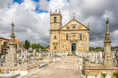View at the church Our Lady of Amparo in Valega - Portugal Stock Image
