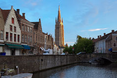 View on the Church of Our Lady in Bruges, Belgium Stock Photo