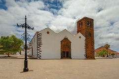 View of Church of Our Lady of Candelaria in La Oliva Royalty Free Stock Photography