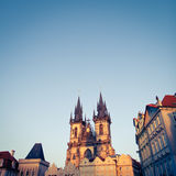 View of the Church of Our Lady before Týn (Tyn Church) Royalty Free Stock Image