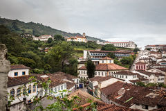 View of a church of ouro preto in minas gerais Royalty Free Stock Photo