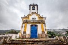 View of a church of ouro preto in minas gerais Royalty Free Stock Photos