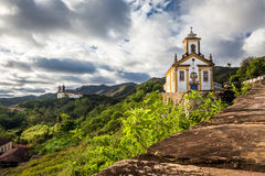 View of a church of ouro preto in minas gerais Royalty Free Stock Image