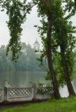 View of the Church of Pentecost, the city Kishtim, Russia Stock Image