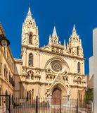 View at the church of Sacred Heart in Malaga - Spain Stock Photography
