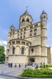 View at the church of Saint Gertrude in Nivelles - Belgium. NIVELLES,BELGIUM - MAY 21,2018 - View at the church of Saint Gertrude in Nivelles. The Collegiate royalty free stock image