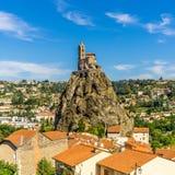 View at the church Saint Michel d Aiguilhe - Le Puy en Velay Royalty Free Stock Image