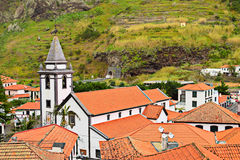View of Church in Saint Vincent, Madeira, Stock Photos