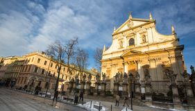 View of the Church of Saints Peter and Paul in Old Town district. Royalty Free Stock Photography