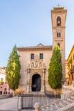 View at the church of San Gil and Santa Anna in Granada, Spain. View at the church of San Gil and Santa Anna in Granada - Spain Royalty Free Stock Photos