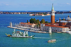 View of the Church of San Giorgio Maggiore and the Grand Canal, Stock Photos