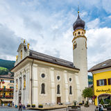 View at the Church San Michele in San Candido Stock Images