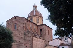 View of the church of Santa Maria del Carmine. Which is a church of the Carmelite Order, Florence, Italy royalty free stock photography