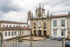 View at the church of Santo Antonio dos Capuchos in Guimaraes ,Portugal Stock Images